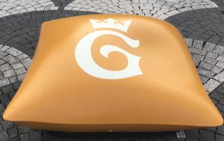 Concrete Cush - zu deutsch Betonkissen, individuell gestaltbar: hier mit dem Logo der Stadt Goslar