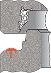 IDLA Muffenverbindung mit intergrierter Kompressionsdichtung BS2000 und 3punktplus Lastübertragungselement
