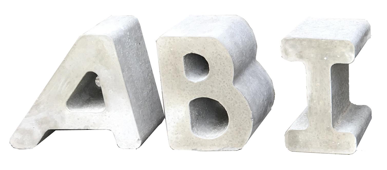 Beton Buchstaben Beton Zahlen