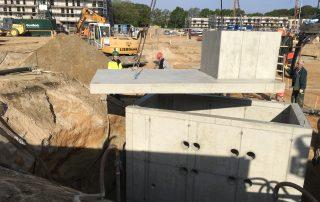 """Sohle-Schachtbauwerk: """"Pool"""" für diverse Leitungen der Technik für Erdwärme"""